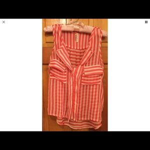Truth NYC Woman's Sz SMALL Sleeveless Striped Top
